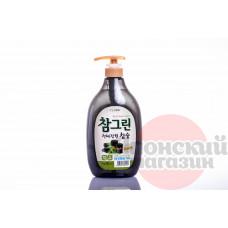 CJ Lion Chamgreen Средство для мытья посуды/овощей/фруктов Древесный уголь 1000 гр (965 мл)