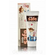 CJ Lion Kids Safe Зубная паста детская Клубника (от 3-х до 12 лет) 90 гр