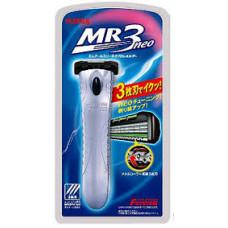 Feather F-System MR3 Neo Бритвенный станок с тройным лезвием с хромированной ручкой 1 шт