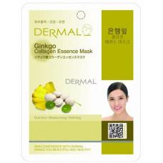 Dermal Collagen Essence Mask Ginkgo Маска коллагеновая с экстрактом листьев гинкго 1 шт 23 гр 038