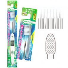 Hukuba Dental Kiss You Зубная щетка ионная 4 ряда ворсинок с классической чистящей головкой Средняя жесткость 1 шт