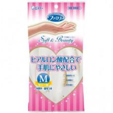 Перчатки виниловые ST Family Soft&Beauty с гиалуроновой кислотой (размер M) 1 пара