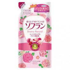 Кондиционер для белья Lion Soflan Aroma Natural  с ароматом цветов и ягод (м.у.) 500 мл
