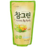 Средство для мытья посуды/овощей/фруктов CJ Lion Chamgreen Зеленый чай (м.у.) 800 гр