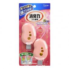 ST Shoshu-Riki Жидкий освежитель для мусорных корзин Розовый грейпфрут 2 шт