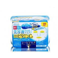 Kose Clear Turn Vitamin C Маска осветляющая с витамином С 30 шт