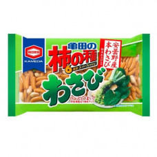 Kameda Kakinotane Wasabi Рисовые снэки с арахисом Васаби 30 гр