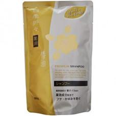 Kumano ShikiOriori Premium Medicated Shampoo Шампунь лечебный против перхоти и зуда Камелия (м.у.) 4