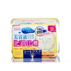 Kose Clear Turn Hyaluronic Acid Маска с гиалуроновой кислотой 30 шт