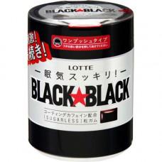 Lotte Black Black Жевательная резинка Охлаждающая мята 150 гр