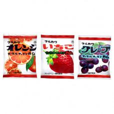 Marukawa Assorted 10 Fruits Жевательная резинка Ассорти 10 шт Фрукты (лента) 54 гр