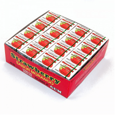 Marukawa Marble Strawberry Жевательная резинка Клубника 48 упаковок по 4 шарика