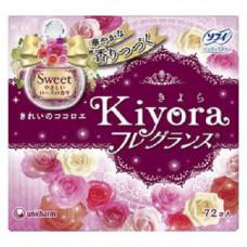 Unicharm Sofy Kiyora Sweet Гигиенические прокладки ежедневные 14 см 72 шт