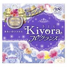 Unicharm Sofy Kiyora Гигиенические прокладки ежедневные с ароматом цветочного мускуса 14 см 72 шт