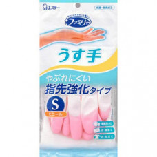 ST Family Перчатки виниловые тонкие с антибактериальным эффектом Pink (размер S) 1 пара