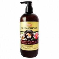 DEVE Natural Oil  Кондиционер с 3 видами масел (лошадинное, камелии, кокосовое), без силиконов 480 м