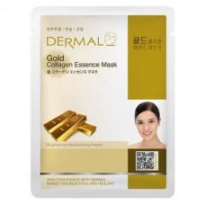 Маска коллагеновая Dermal Collagen Essence Mask Gold с коллоидным золотом 1 шт 23 гр