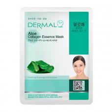 Маска коллагеновая Dermal Collagen Essence Mask Aloe с экстрактом алоэ 1 шт 23 гр