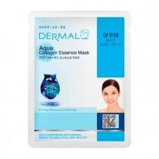 Маска коллагеновая Dermal Collagen Essence Mask Aqua с чистой морской водой 1 шт 23 гр