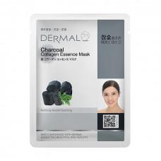 Dermal Collagen Essence Mask Charcoal Маска коллагеновая с древесным углем 1 шт 23 гр 019