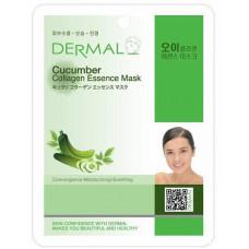 Dermal Collagen Essence Mask Cucumber Маска коллагеновая с экстрактом огурца 1 шт 23 гр 020