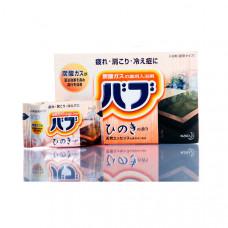 Kao Bub Соль для ванны в таблетках Кипарис (вода древесного цвета) 40 гр х 20 шт