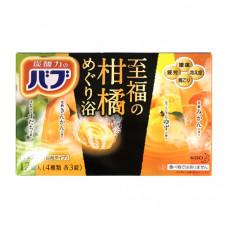 Kao Bub Соль для ванны в таблетках Цитрус 40 гр х 12 шт