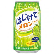 Напиток безалкогольный газированный Sangaria Hajikete Melon Дыня 350 мл (банка металлическая)