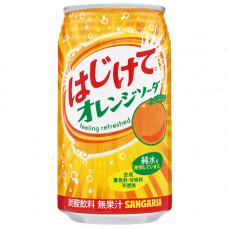 Напиток безалкогольный газированный Sangaria Hajikete Orange Апельсин 350 мл (банка металлическая)