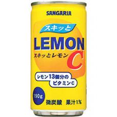 Напиток безалкогольный газированный Sangaria Lemon C Лимон 190 мл (банка металлическая)