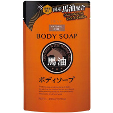 Жидкое мыло для тела Kumano Deve Horse Oil Body Soap с лошадиным маслом (м.у.) 400 гр