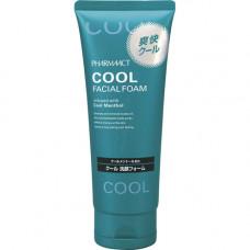 Kumano Pharmaact Washing Foam Cool Facial Очищающая пенка для умывания с ментолом 130 гр