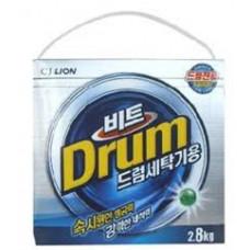 CJ Lion Beat Drum Стиральный порошок с пальмовым маслом (автомат)(коробка) 2800 гр