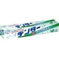 Lion Dentor Clear Max Зубная паста с микрогранулами для защиты от кариеса Мята (горизонтальный тюбик) 140 гр